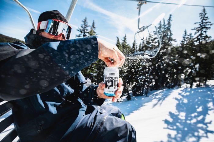 Cracking a cold 10 barrel beer on the slopes