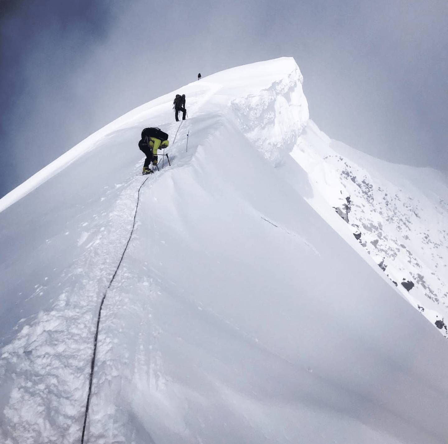 Picture showing climbers and Mark Pattison