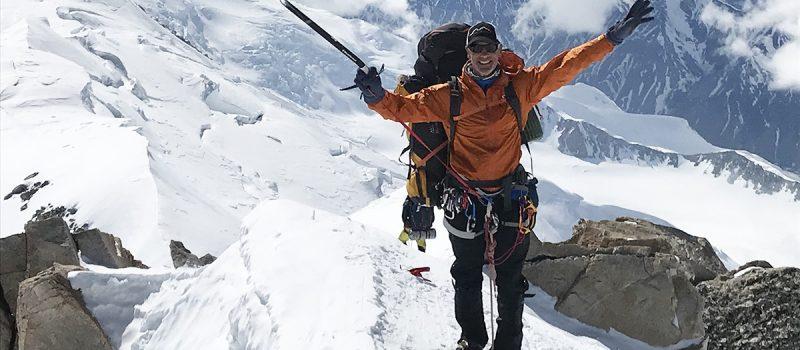 Mark Pattison on a climb