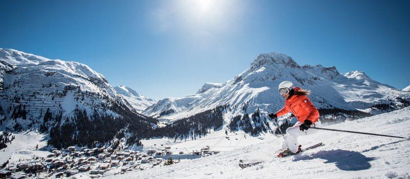 Skier On Slopes In United Kingdom