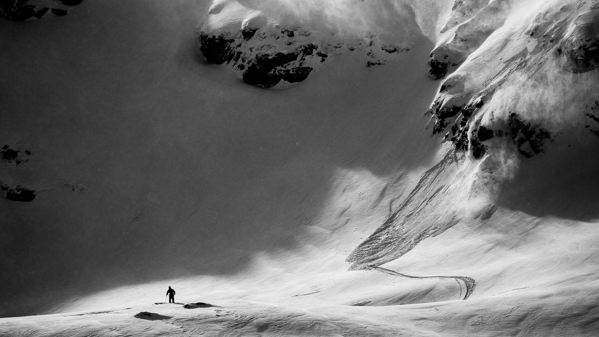 Colorado Avalanche And Skier