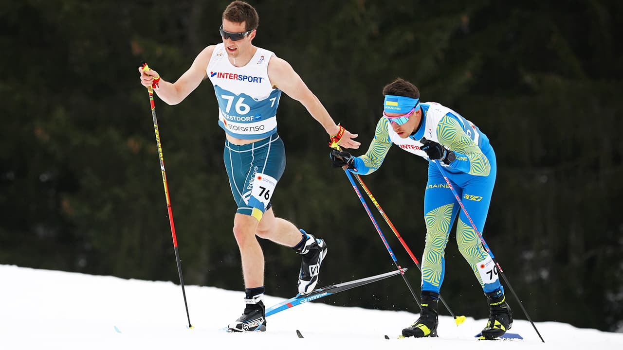 Australian Skier Mark Pollock Competes in Shorts and Singlet