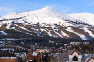 Photo of Breckenridge, Colorado, with Peak 8 in background. The summit of Peak is 12,987 feet. Although unlikely, this elevation is high enough to cause HAPE.
