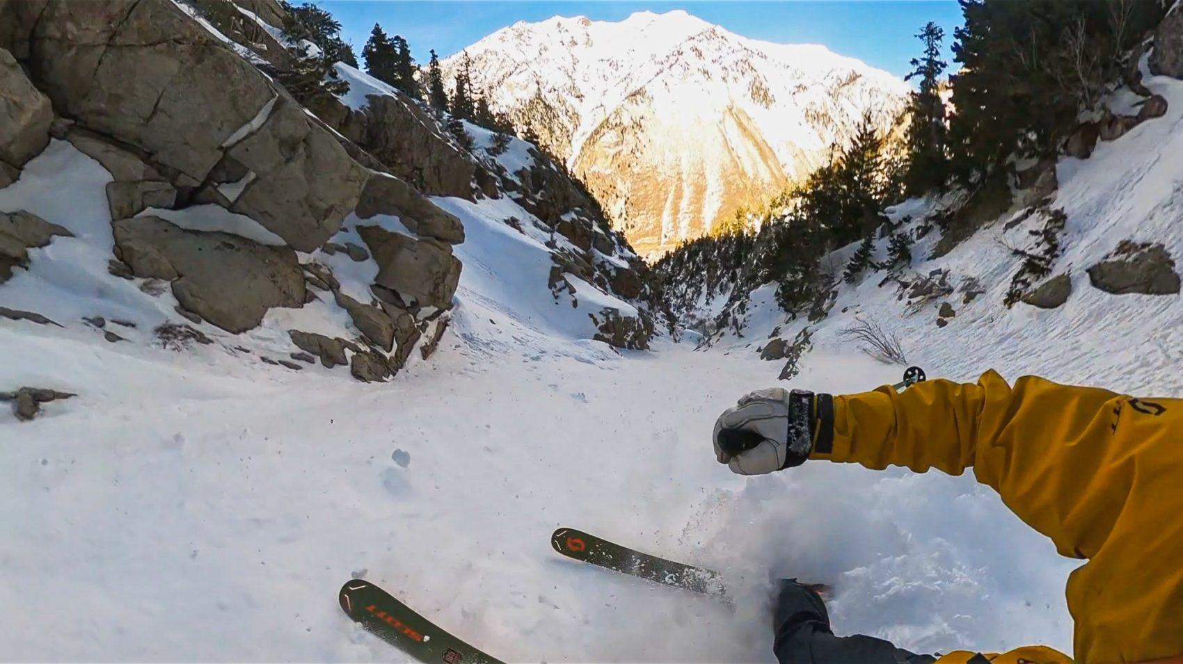 Lower chute fun. image: snowbrains