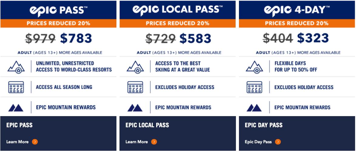 epic pass, vail resorts