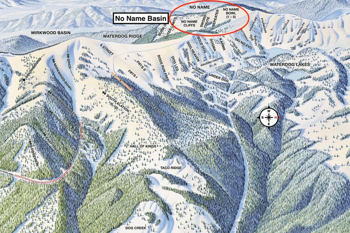 monarch mountain, Colorado, no name basin,