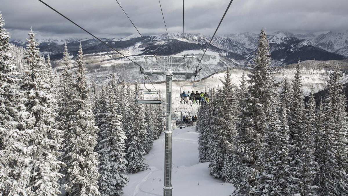 vail, colorado, chairlift