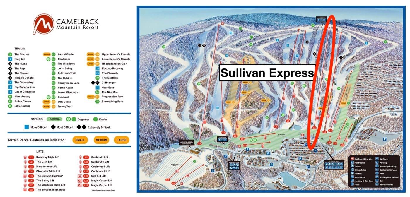 camelback mountain, Pennsylvania, Sullivan express