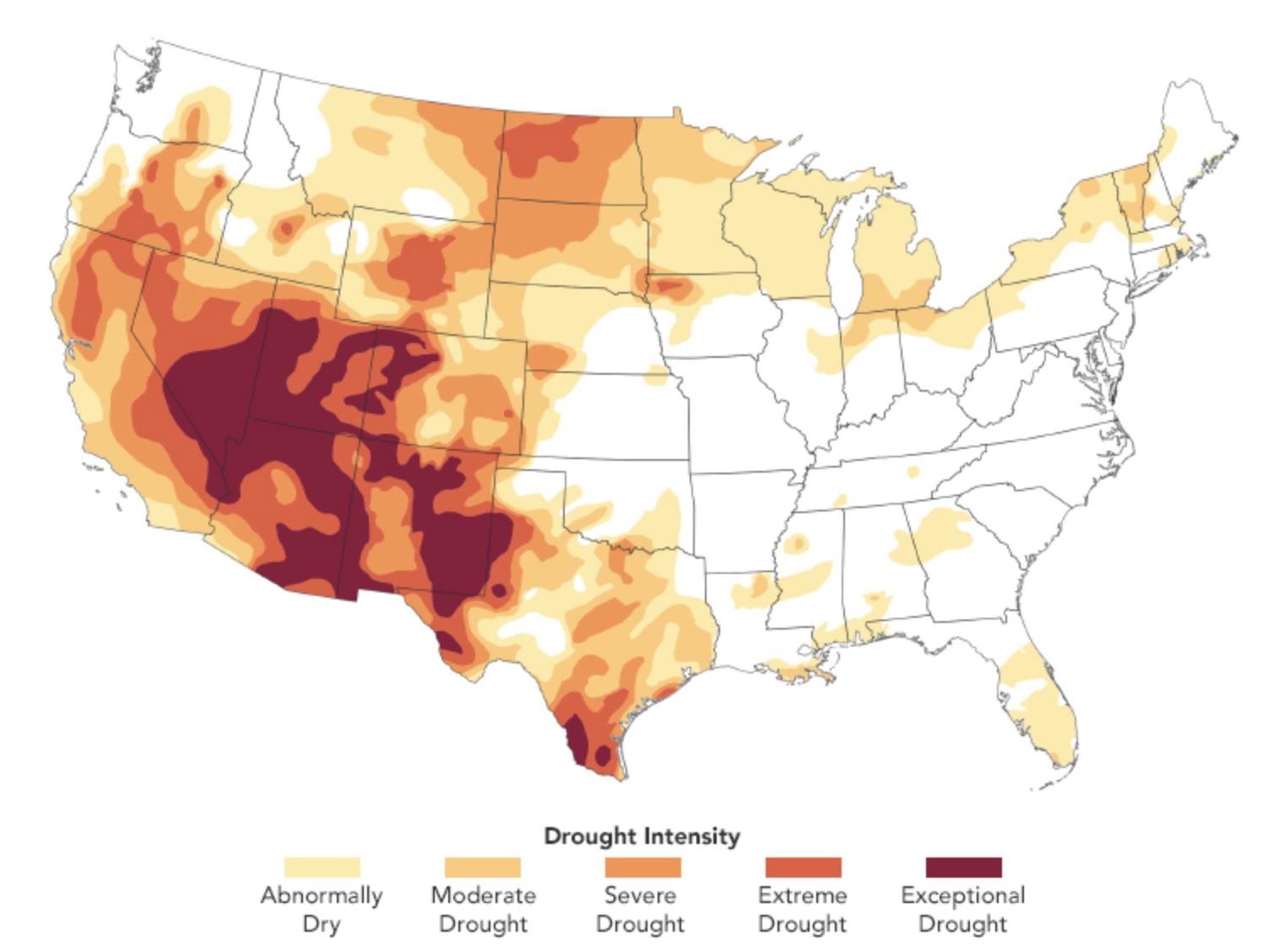 Drought water shortage