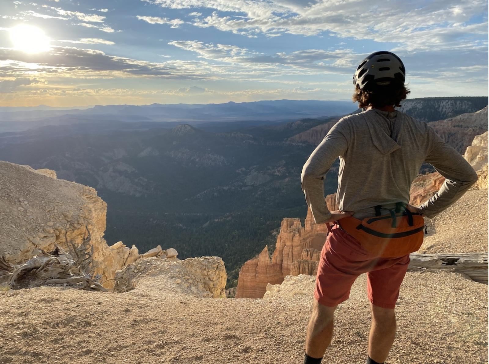 Mountain Biker on the Aquarius Trail