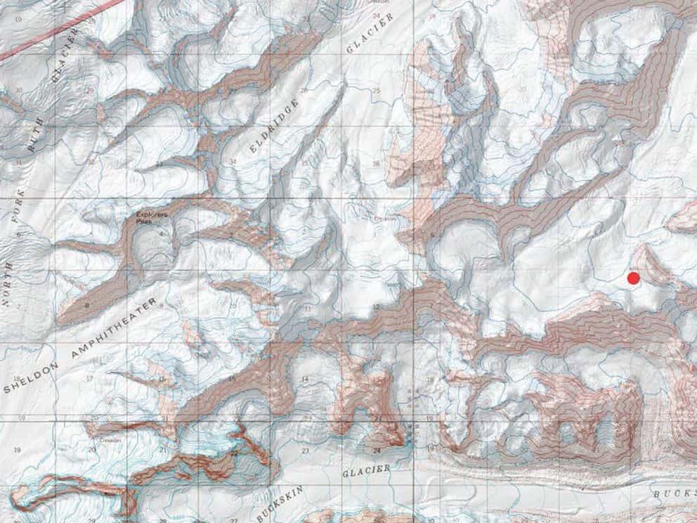 Eldridge glacier, Denali national park, alaska