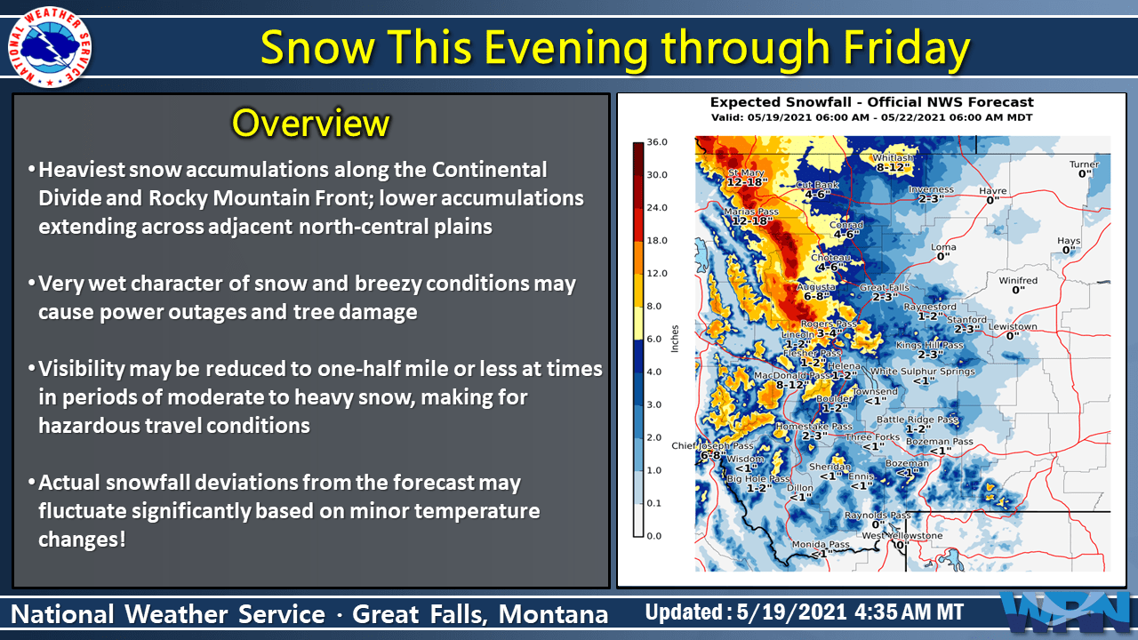 SnowBrains Forecast: 1-3 Feet of Snow To Fall in Parts of Western Montana Through Sunday