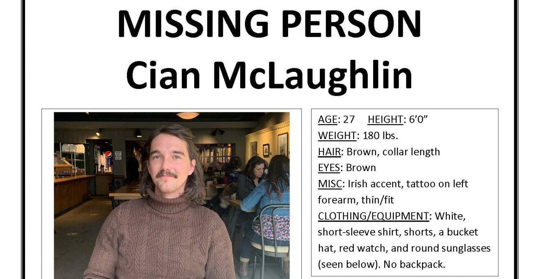 hiker, missing, Cian mclaughlin
