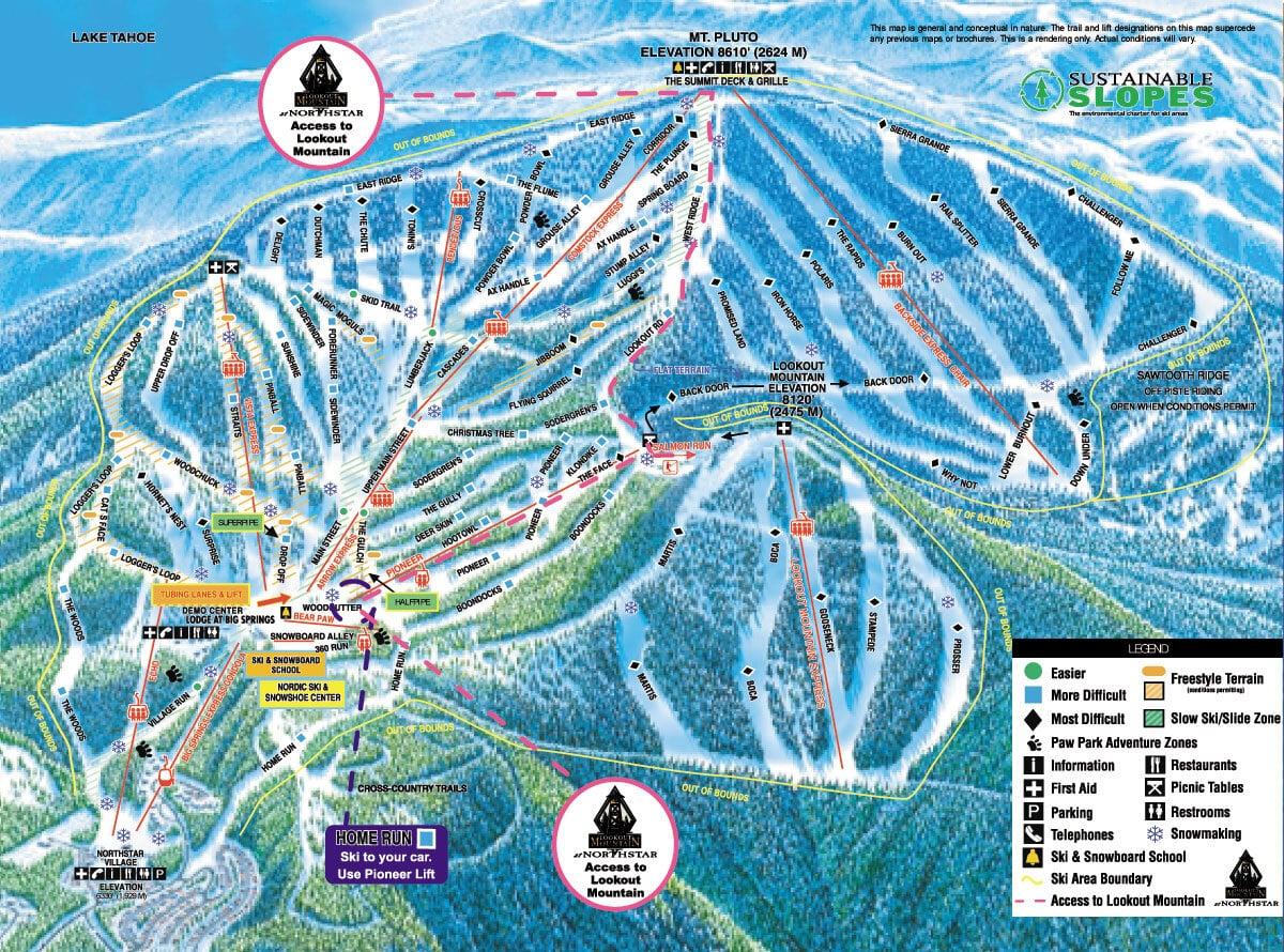 Northstar Trail Map