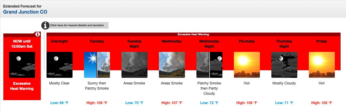 heat wave, excessive heat warning, colorado,