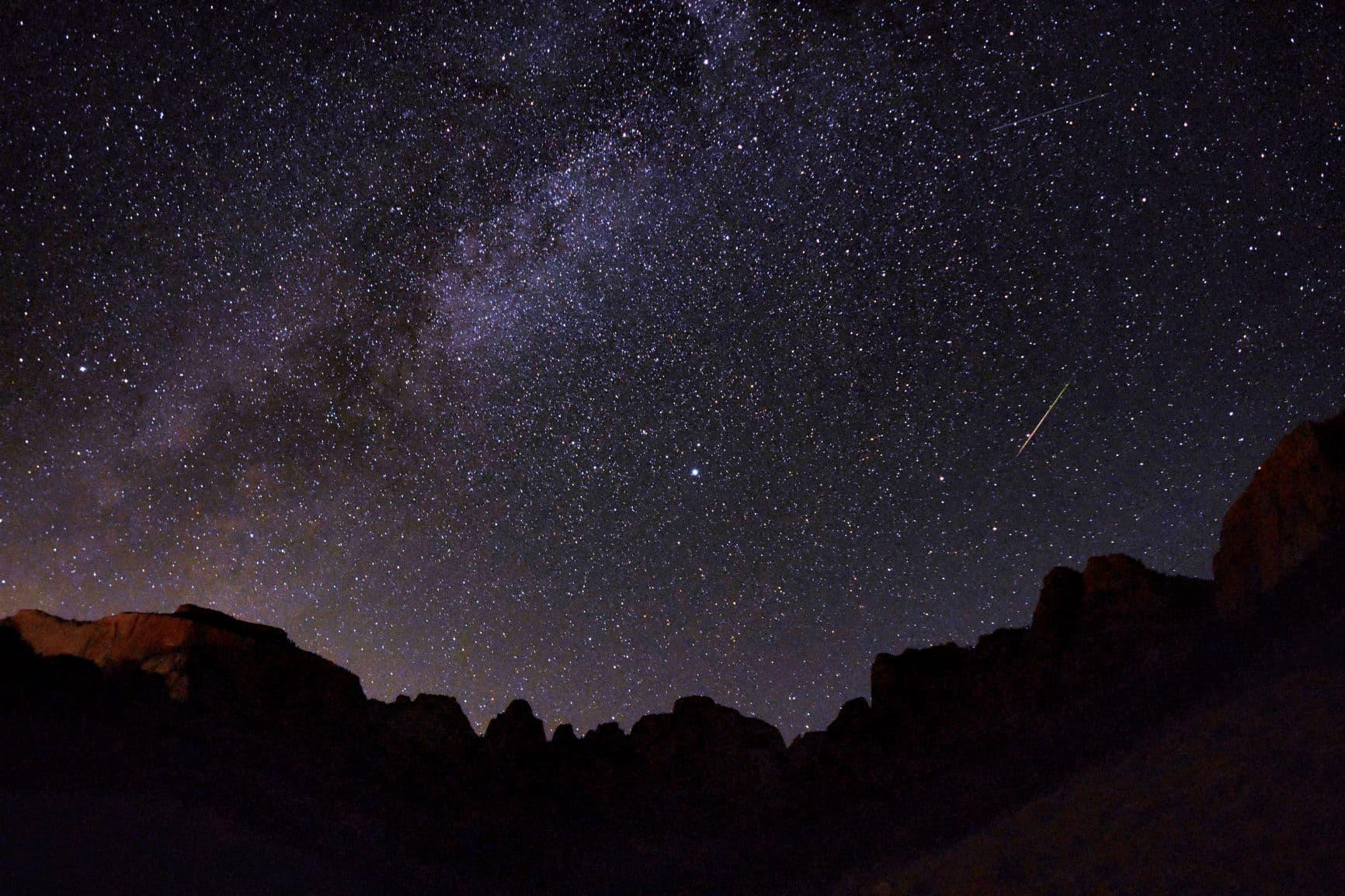 Zion national park, dark sky, Utah