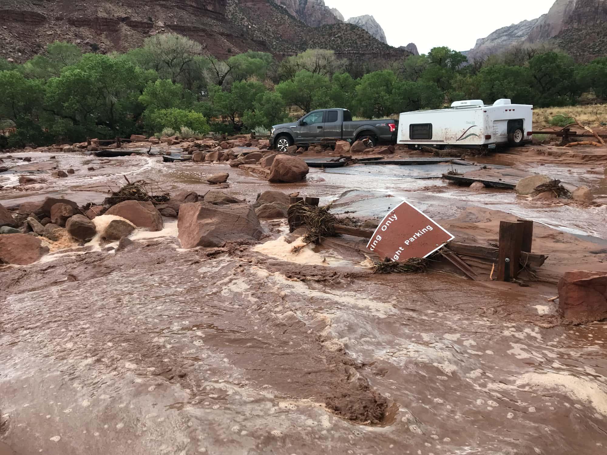 Zion national park, utah, flash flood