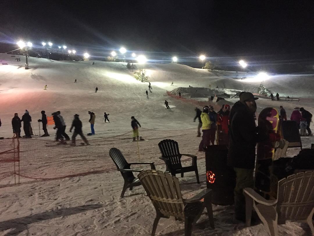 late night skiing