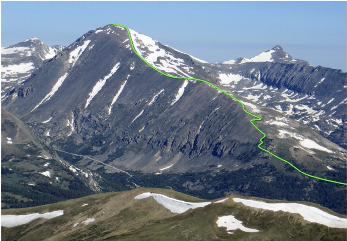 quandary peak popular 14er route