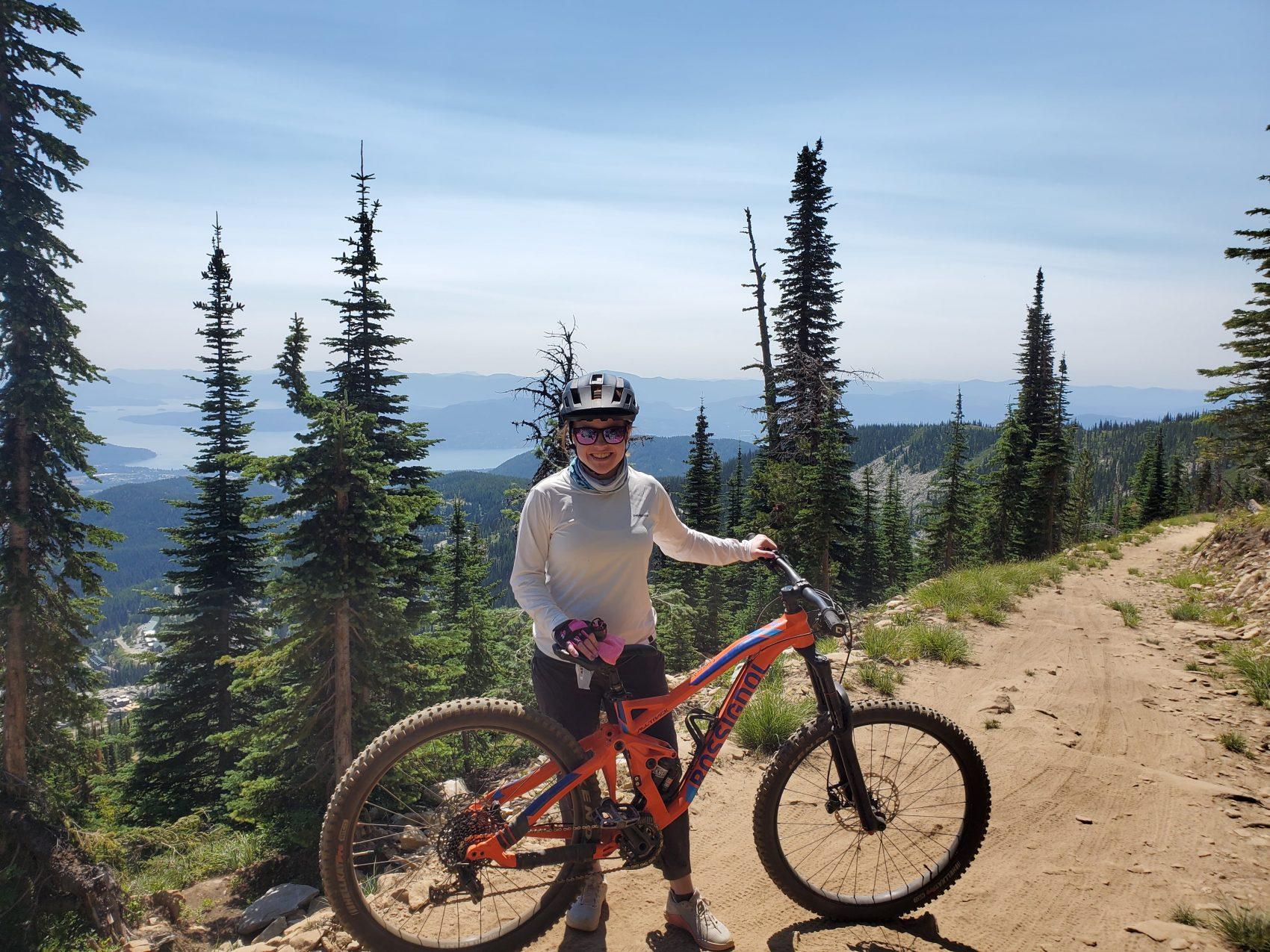 Girl with bike, schweitzer, Idaho