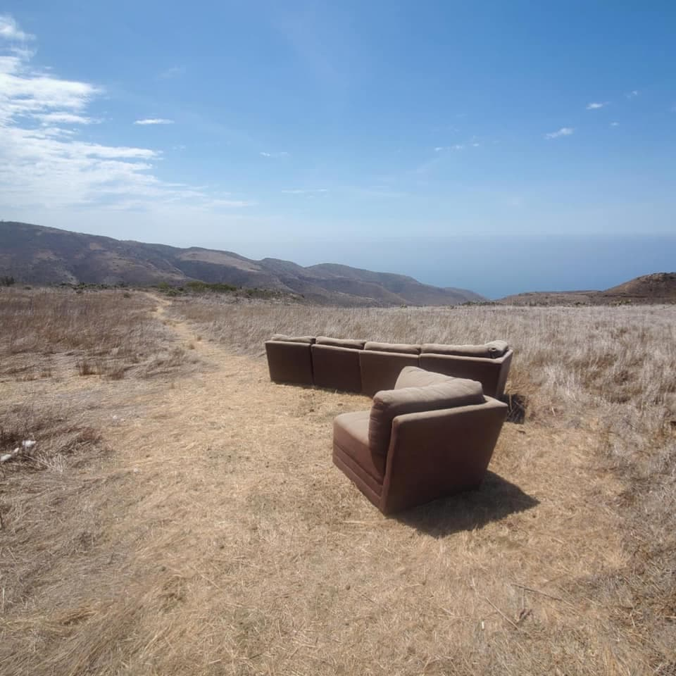 couch, Santa Monica Mountains National Recreation Area, california