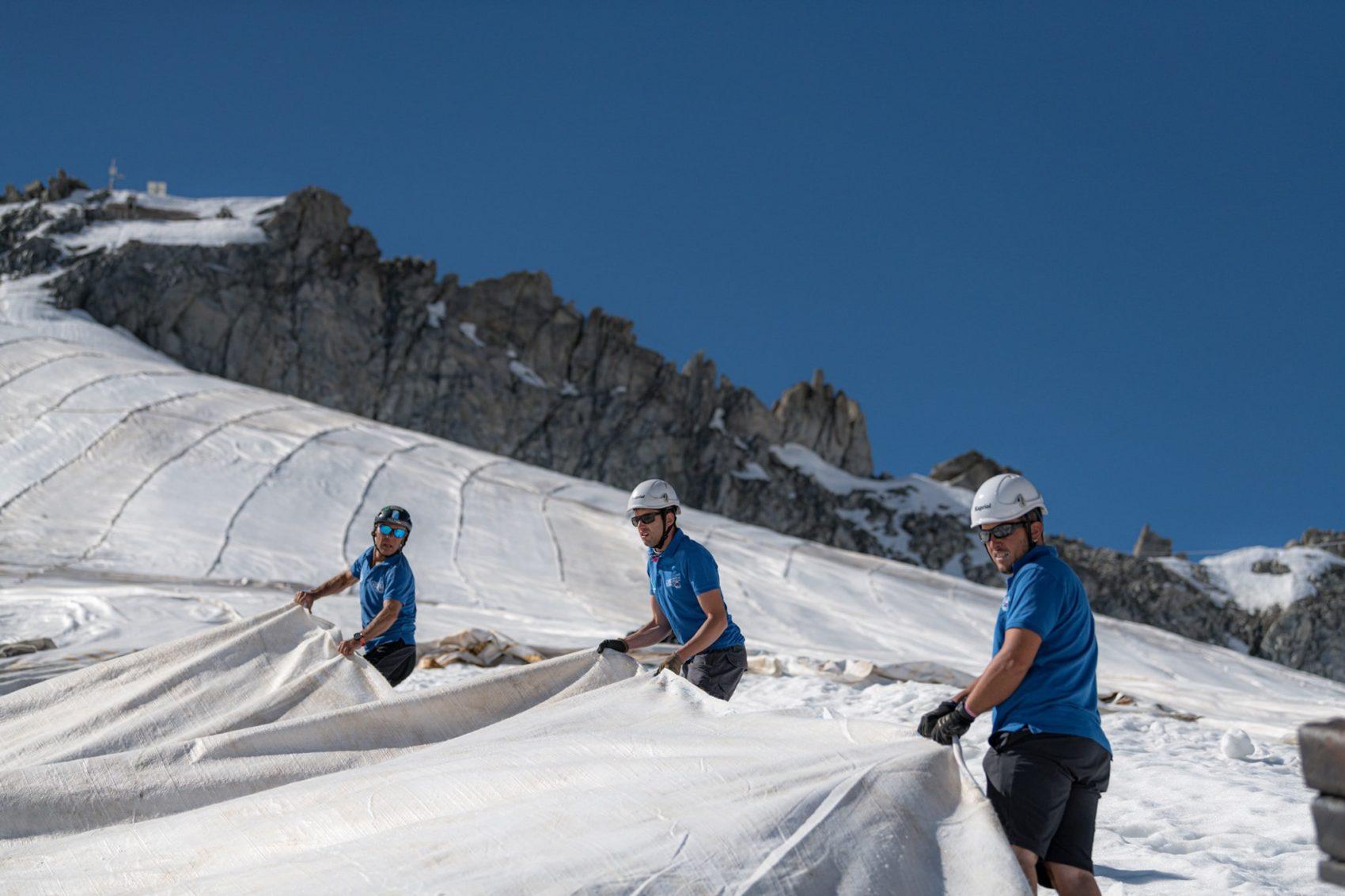 Glacier covering