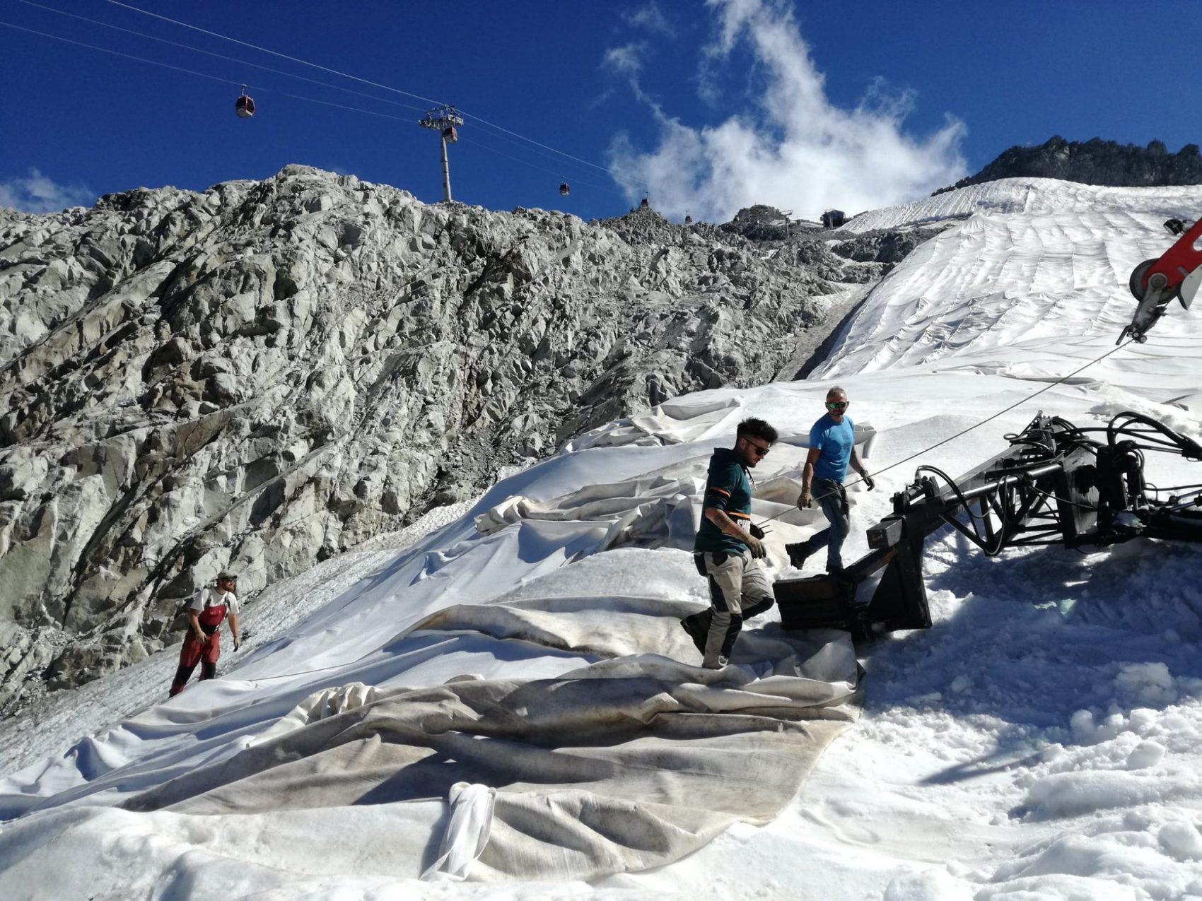 Crews work hard to save glacier