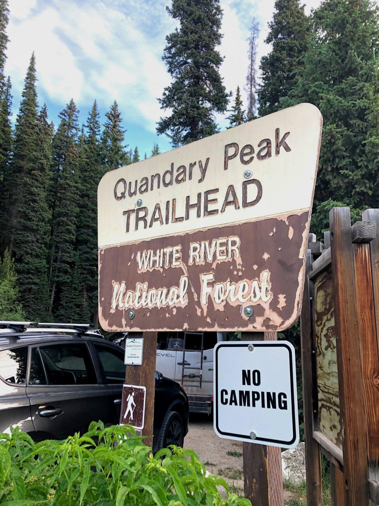 trailhead, quandary peak, Colorado