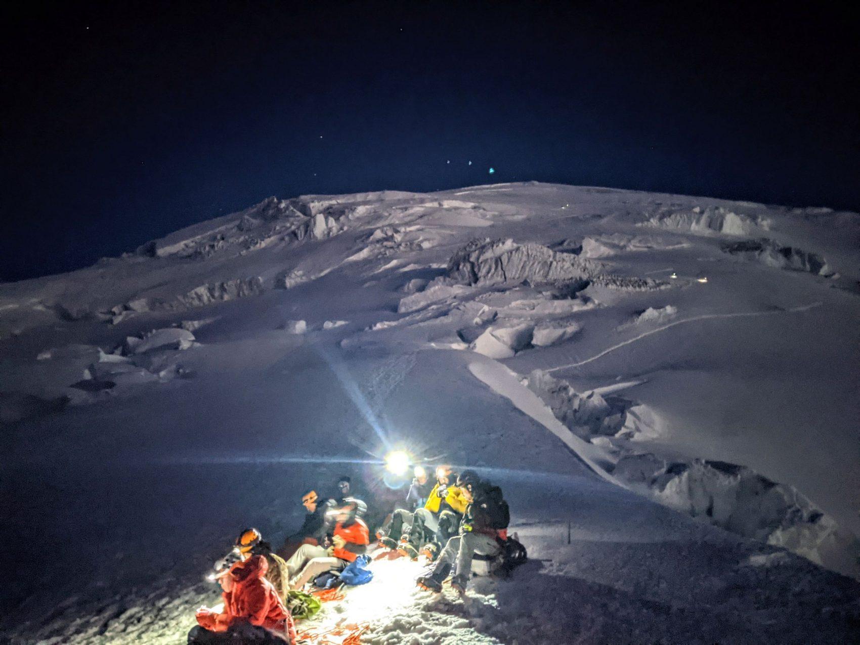 Mt. Rainier at night