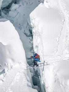 Climber on a ladder