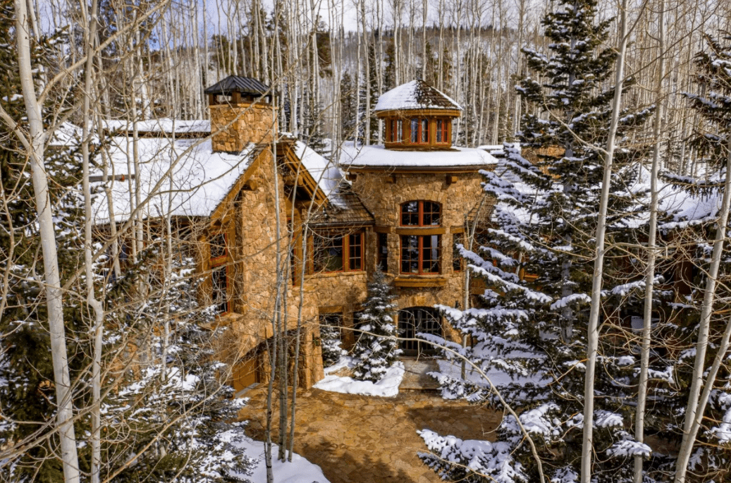 snowy mansion