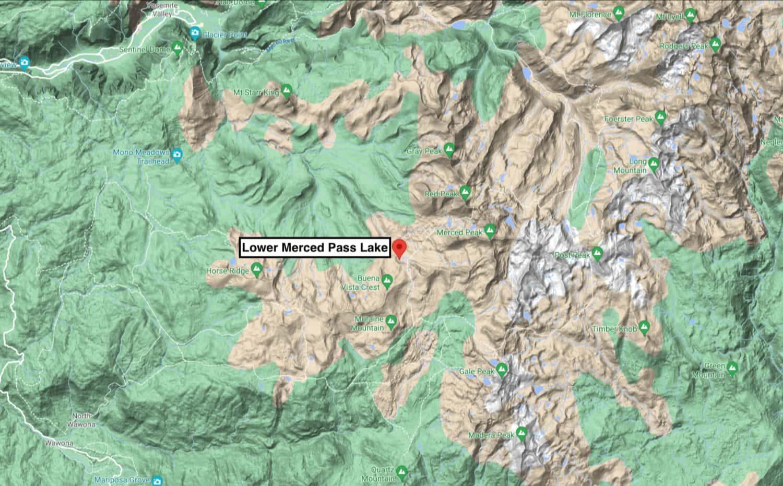 yosemite, lower Merced pass lake, california,