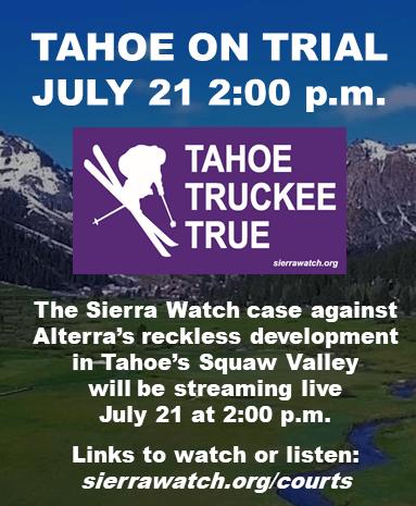 Sierra watch, Squaw Valley redevelopment