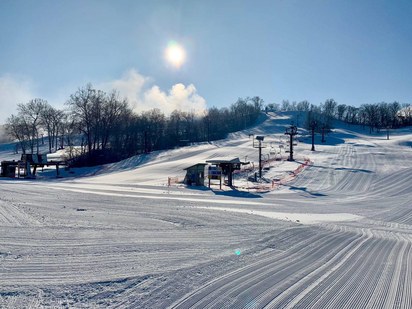 Midwest ski resort, snow creek, Missouri