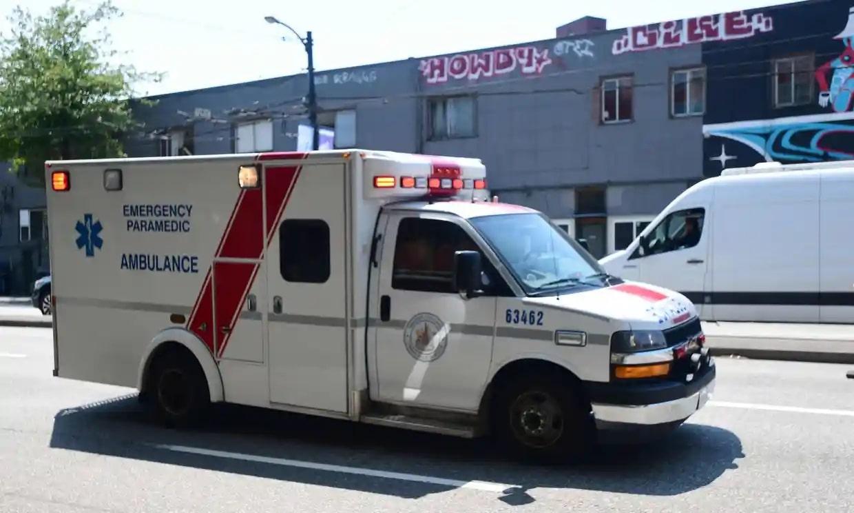ambulance in heatwave
