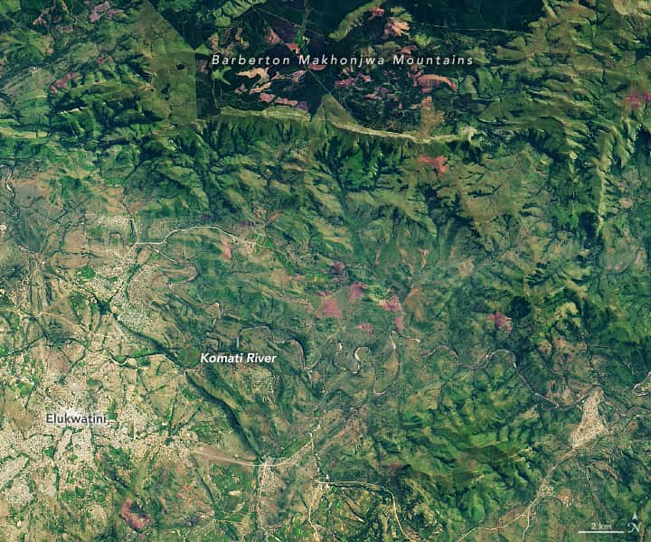 Barberton Makhonjwa Mountains, nasa,