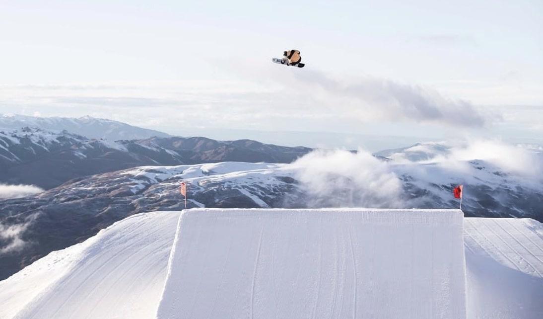 freestyle snowboard jump
