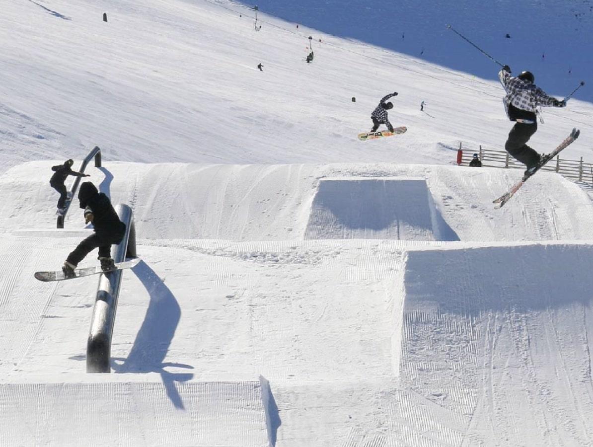freestyle skiing snowboarding