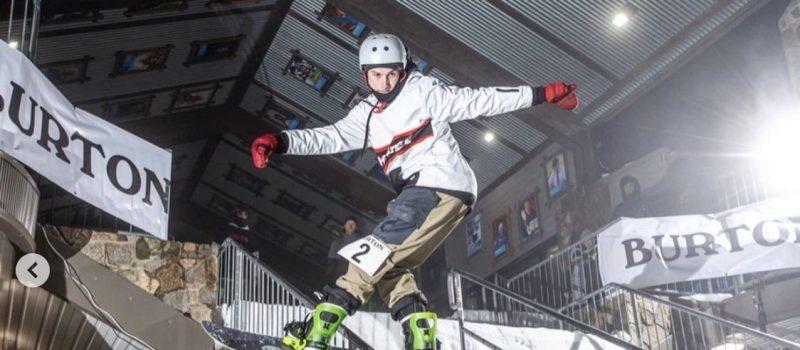snowboard contest rail jam