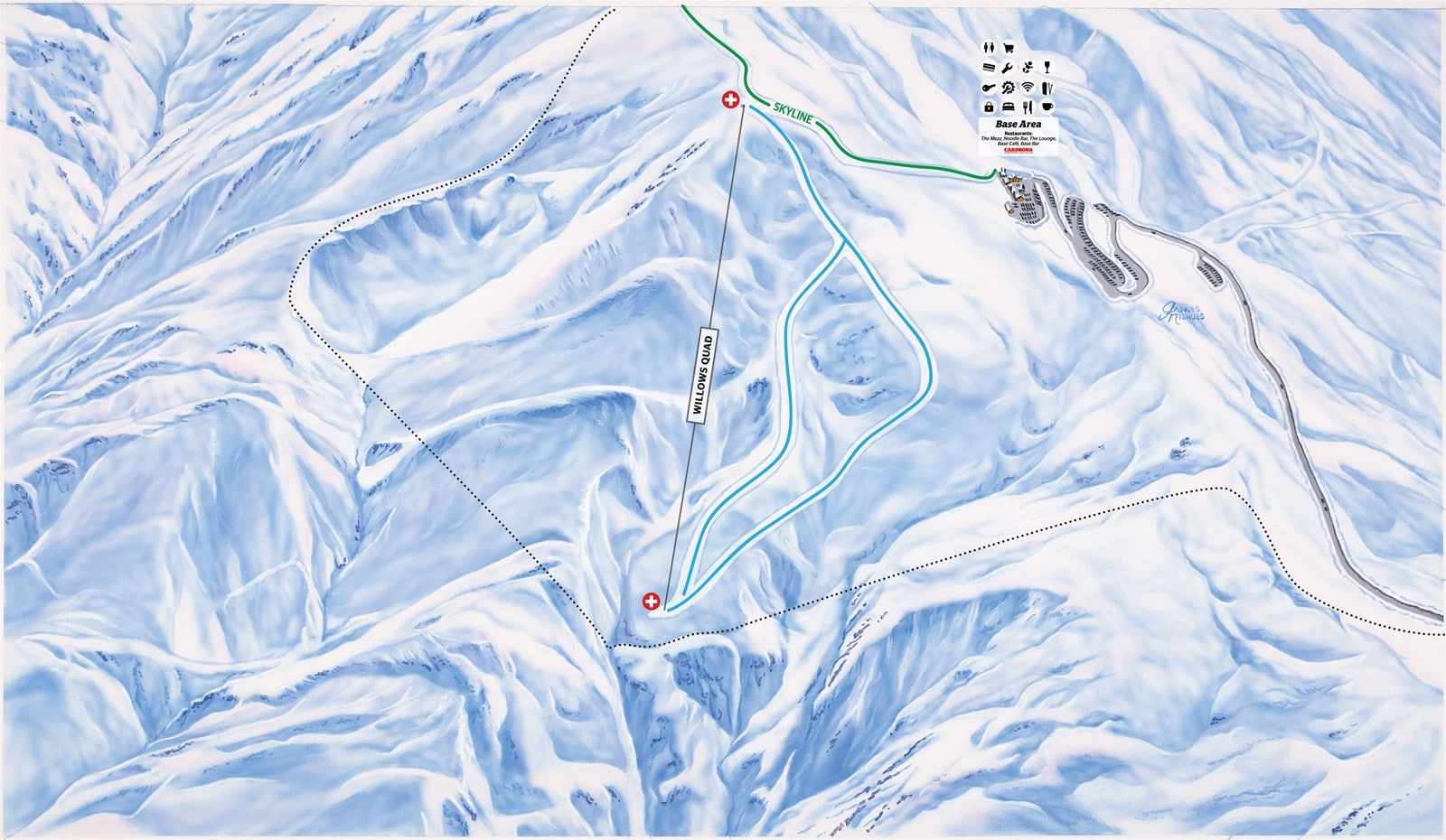 trail map cardrona showing new skiable terrain