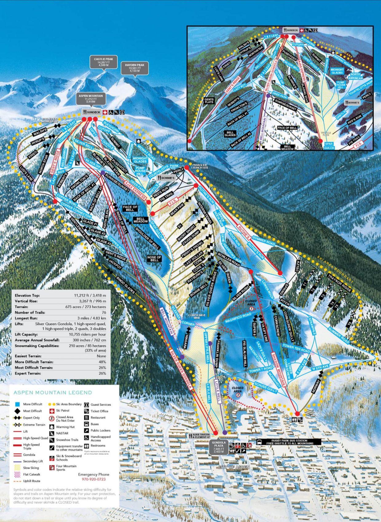aspen, trail map, colorado,