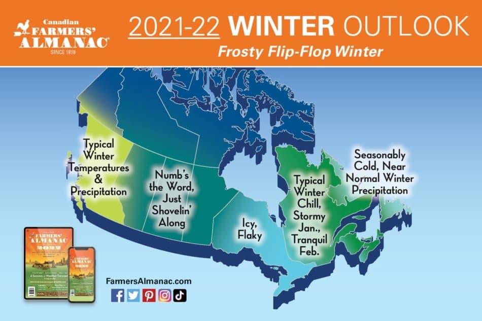 farmers' almanac, Canada, 21/22 outlook