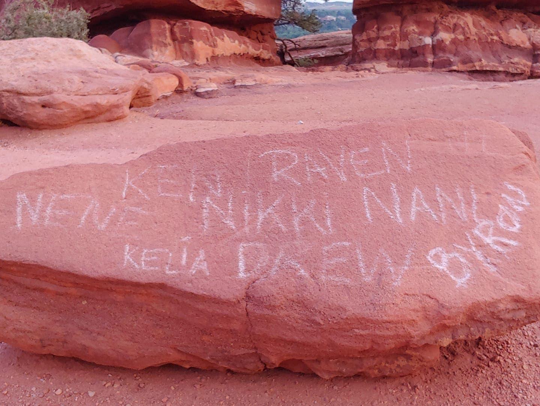 graffiti, garden of the gods, Colorado,