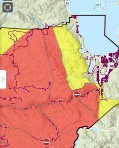 evacuation, south Lake Tahoe, Caldor Fire,