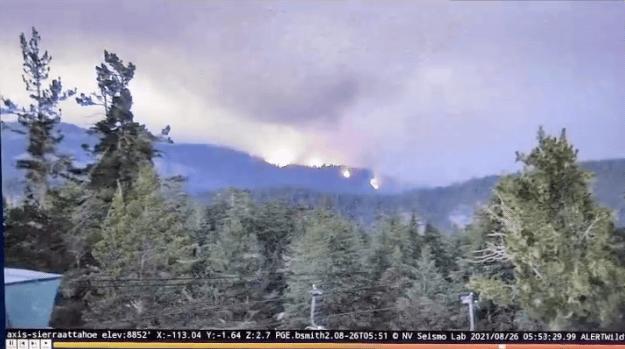 Sierra-at-taho, wildfire, Caldor fire, california