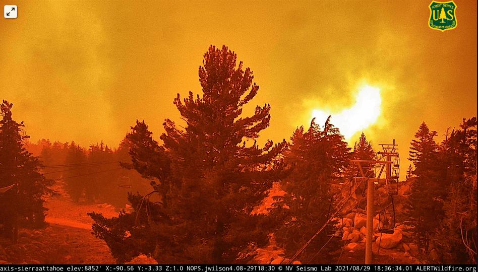 Caldor Fire, Sierra-at-tahoe, california, Lake Tahoe