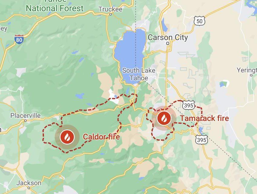 Lake Tahoe fires