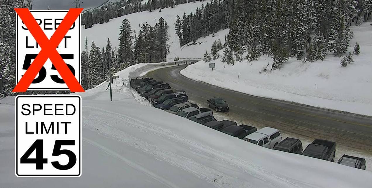 Teton Pass, speed limit,