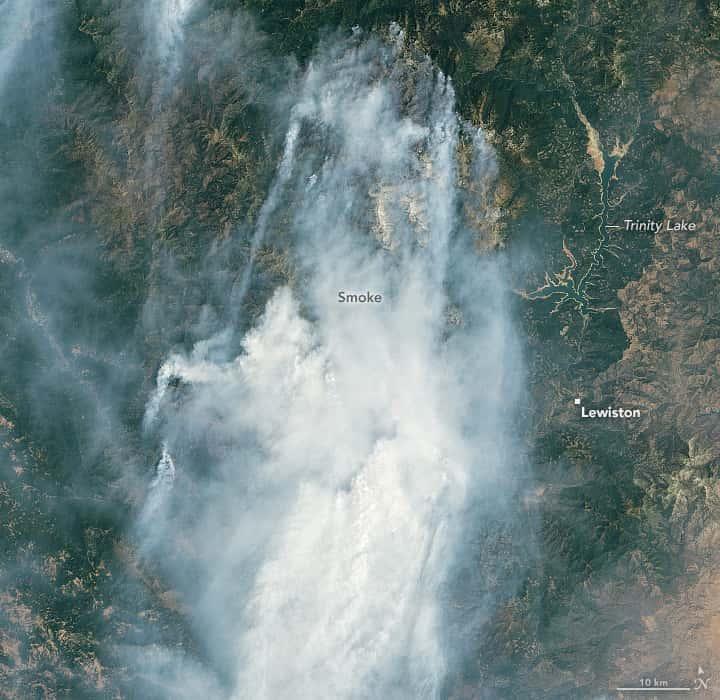 california, wildfires, smoke, NASA,