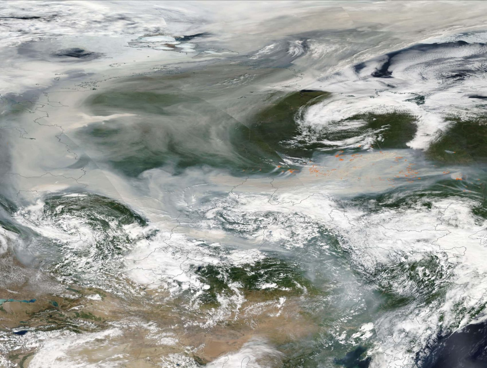 wildfire, smoke, North Pole, first time ever